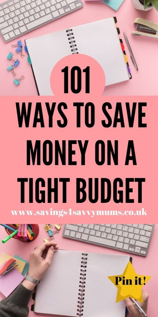 Here are 101 ways to save money on a tight budget with a family. We've included everything from meal planning to going out by Laura at Savings 4 Savvy Mums