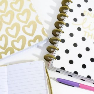 Gold heart notepad with dotty pad notepad