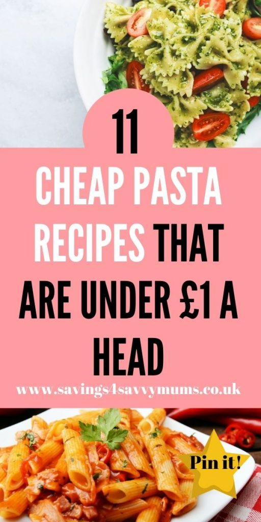 These are the best cheap pasta recipes that are perfect for the whole family. They are easy to make and great if you are in rush by Laura at Savings 4 Savvy Mums