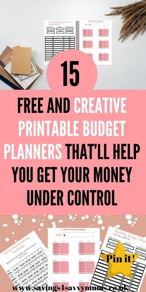 These 15 free printable budget planners are great in helping you to save money as a family. Print them off for free now by Laura at Savings 4 Savvy Mums
