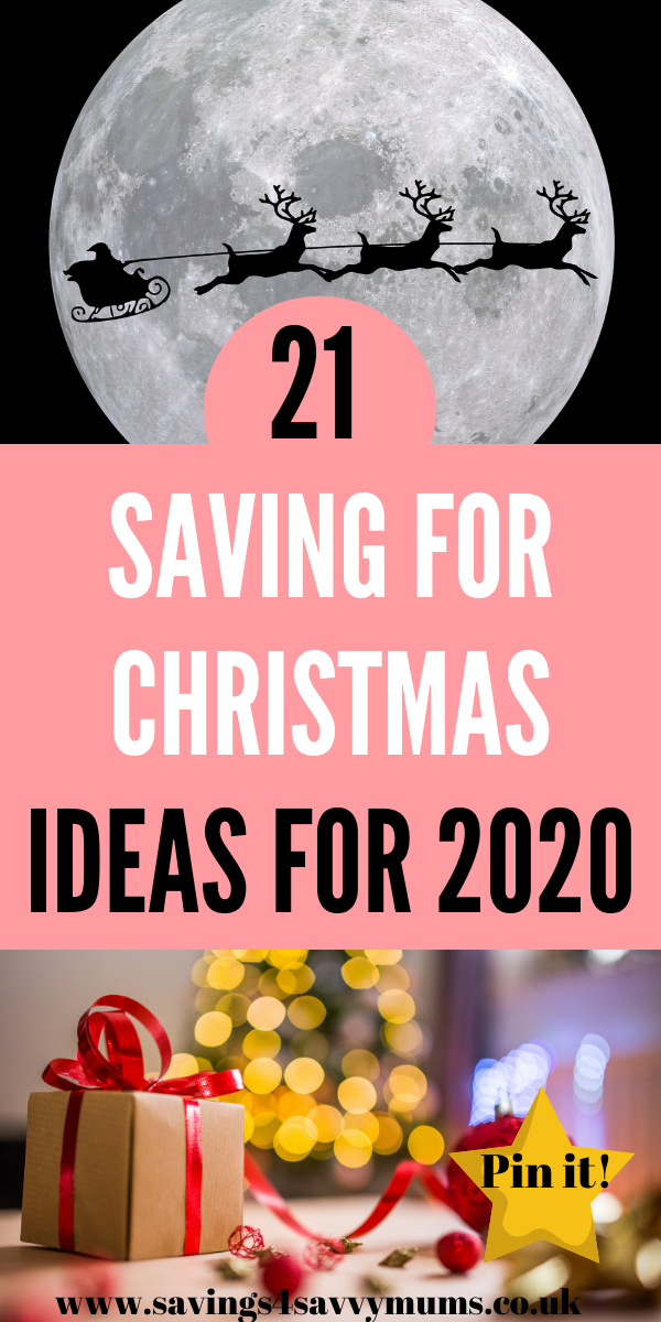 Here are 21 saving for Christmas ideas that you can do now to help you pay for Christmas. These are all simple ideas that can really save you money by Laura at Savings 4 Savvy Mums #Christmas #MoneySaving #BudgetFriendly