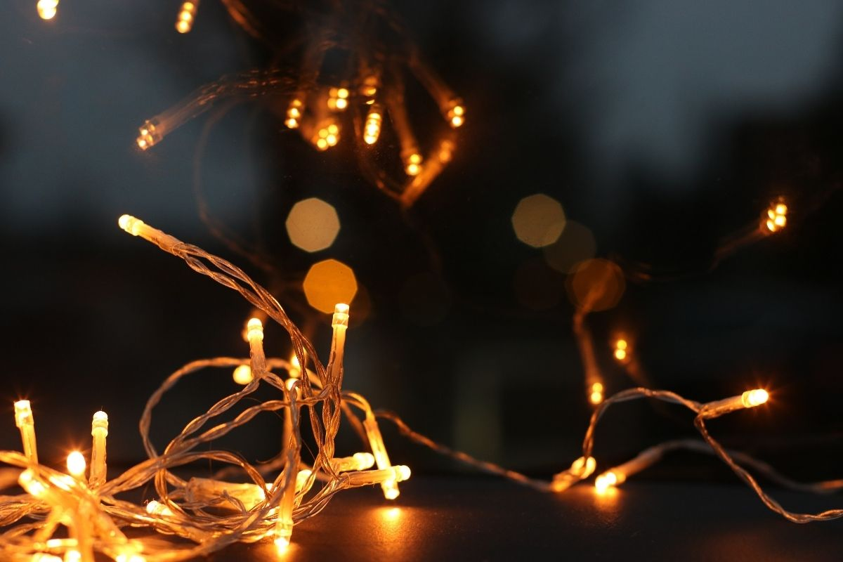 Gold christmas lights