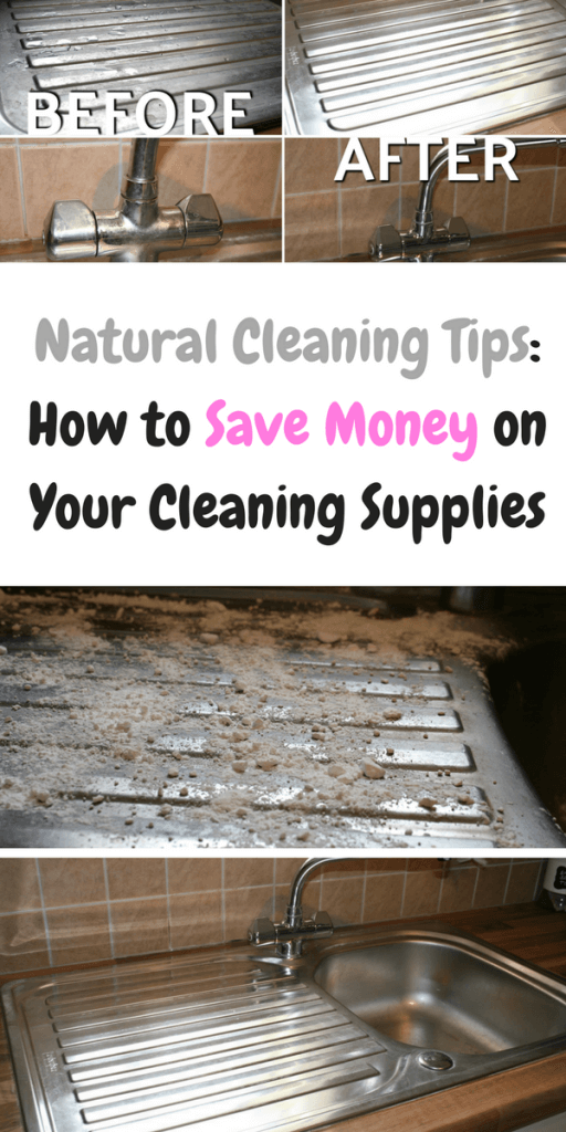 Natural cleaning tips: how to save money on your cleaning supplies. #NaturalCleaningSupplies #CheapCleaning