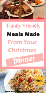 Here are 13 Christmas dinner leftover recipes that not only use up everything you have left, but also all come in at under £1 a head by Laura at Savings 4 Savvy Mums #ChristmasDinner #Leftovers #BudgetFood