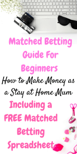 Do you want to make money from home? Here is a easy walkthrough to help you make your first bet with a downloadable matched betting guide by Laura at Savings 4 Savvy Mums. #MatchedBettingSpreadsheet #HowToMatchBet #MatchedBettingTips