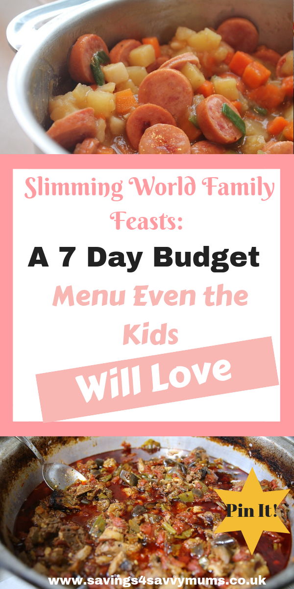 21 family friendly Slimming World recipes that are Syn free and cheap. Download my FREE Slimming World 7 day menu and shopping list by Laura at Savings 4 Savvy Mums. #SlimmingWorldRecipes #SlimmingWorldSynFree #SlimmingWorldFamilies