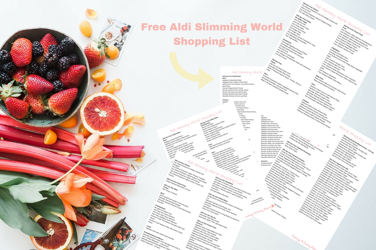 Aldi Slimming World Shopping List