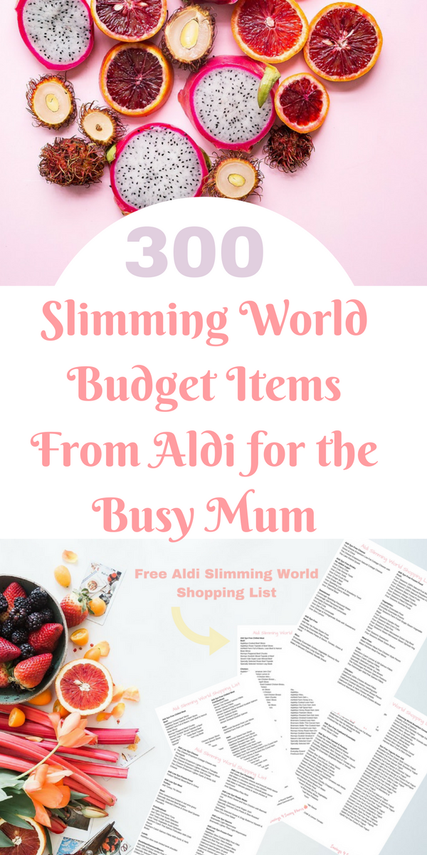 Here is a 300 Aldi Slimming World shopping list that is perfect for busy families who want to eat right but on a budget. Includes a free Slimming World shopping list and meal plan printables.