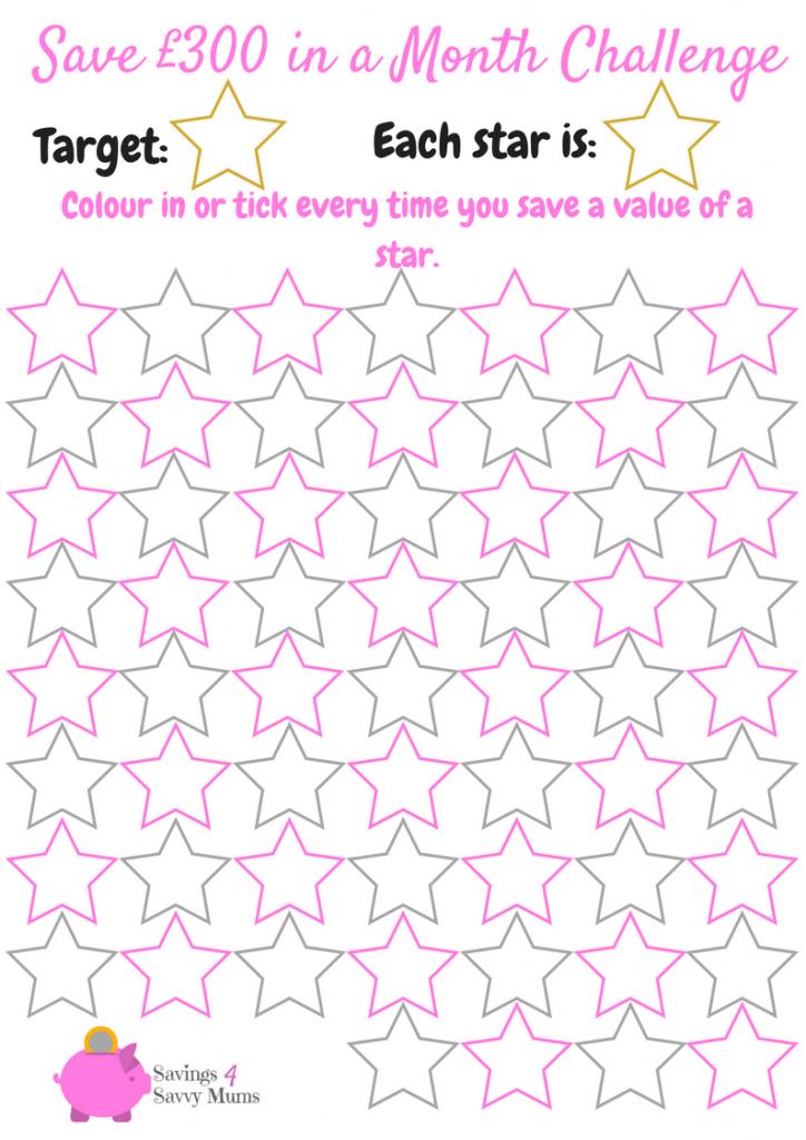 Printable Savings Goal Chart