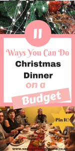 Looking for Christmas party ideas? This is how to do Christmas dinner on a budget while still offering your family an indulgent good time Including Christmas dinner starter ideas and an alternative Christmas dinner recipe by Laura at Savings4SavvyMums. #ChristmasDinner #BudgetFood #ChristmasRecipes #FamilyFood
