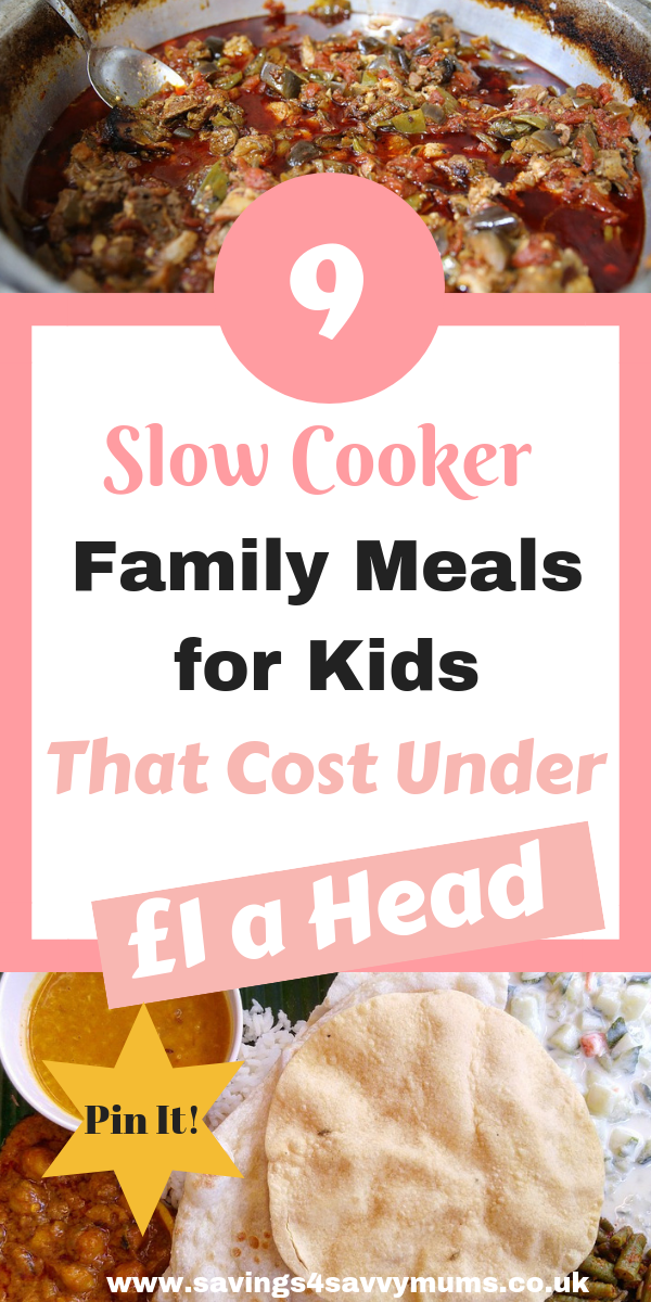 Slow cookers are great for making cheap and easy meals and require very little effort or money, plus make great kids meals for under £1 a head by Laura at Savings 4 Savvy Mums #SlowCooker #SlowCookerRecipes #BudgetFood #SavingMoney #CheapRecipes #FamilyRecipes