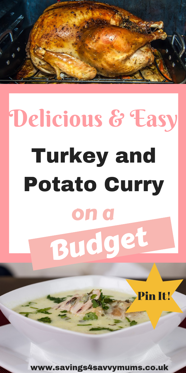 This is a low cost turkey and potato soup recipe that is perfect for the whole family. It's budget friendly anf can be used from leftovers by Laura at Savings4SavvyMums #BudgetMeals #BudgetFood #Soups #FamilyMeals
