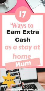 This is how to earn extra cash as a stay at home mum with no experience in the online world. Make money online with these legit ways around the kids by Laura at Savings4SavvyMums.co.uk #MakeMoney #workfromhome #stayathome