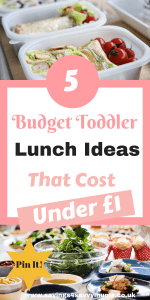 Bin the boring sandwiches and get inspired with our budget friendly under a £1 easy toddler lunch Ideas that also work for the whole family by Laura at Savings4SavvyMums #lunchideas #budgetmeals #lunchideasforkids #lunchideaskids