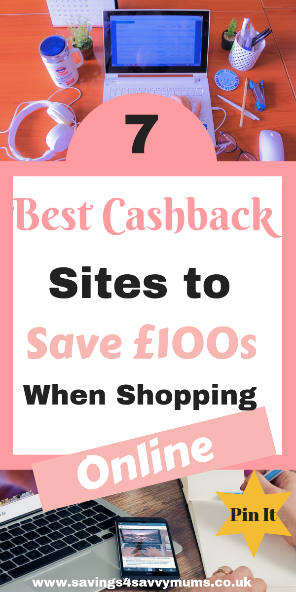 Here are 7 ways you can get cash quickly using the best cashback sites. You could also save £100s when shopping online too by Laura at Savings 4 Savvy Mums #Cashback #SaveMoney #MoneySaving #MakingMoney #MoneyMakingOnline