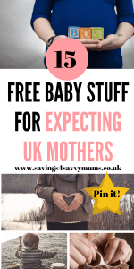 Here are 15 free baby stuff for expecting parents by Laura at Savings 4 Savvy Mums #Baby #BabyStuff