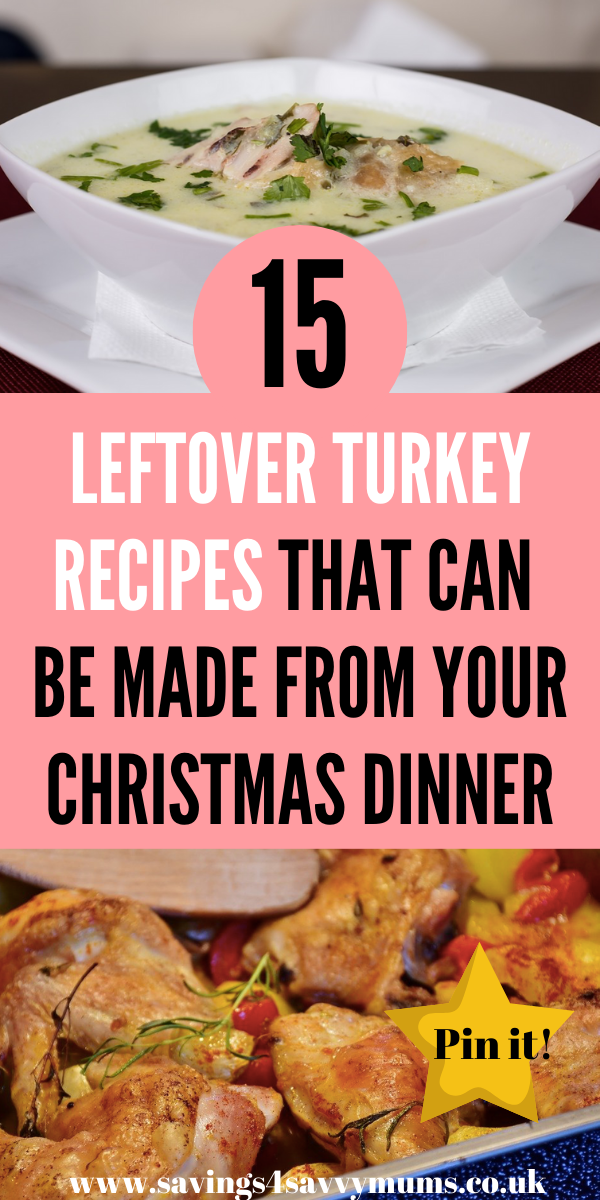 Here are 15 leftover turkey recipes that not only use up everything you have left, but also all come in at under £1 a head.