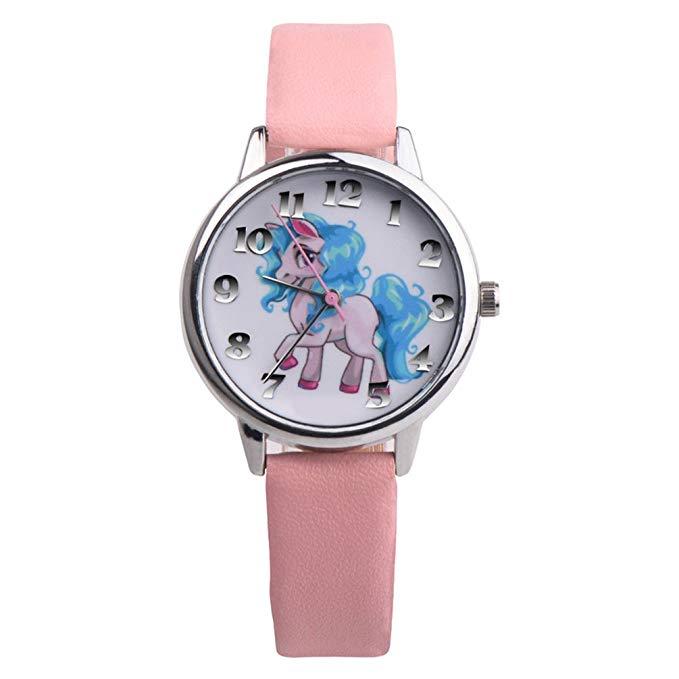 Nighteyes66 Girls Unicorn Wrist Watch*