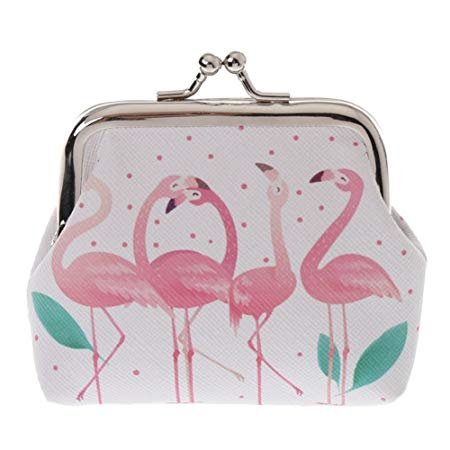 Sanwood Cartoon Flamingo Buckle Coin Purses*