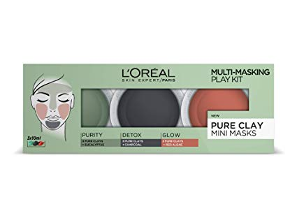 L'Oréal 3 Pure Clays Multi-Masking Face Mask Play Kit, 3 x 10 ml*