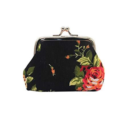 Women Girls Vintage Rose Flower Clutch Bag*