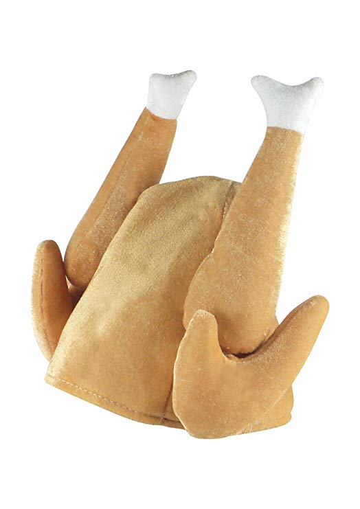Henbrandt Christmas Turkey Soft 3D Hat Cooked Turkey Hat - Adult Size*