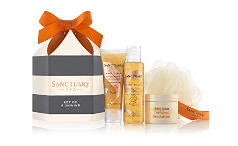 Sanctuary Spa Gift Set, Let Go and Unwind Gift Box with Shower Gel, Body Scrub and Body Butter*