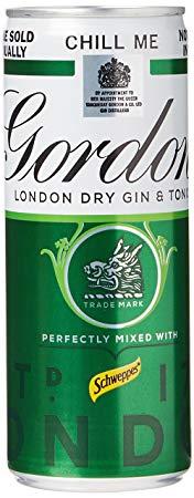 Gordons Gin & Tonic 5% 10 X 250Ml*
