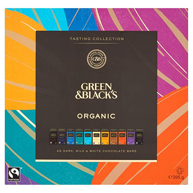 Green & Black's Organic Tasting Collection Boxed Chocolates, 395g*