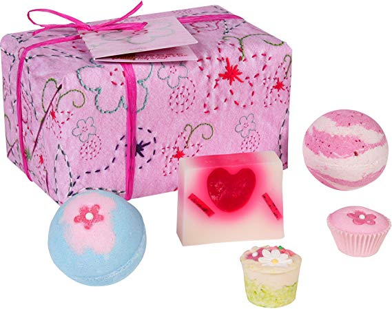 Bomb Cosmetics Pretty in Pink Handmade Wrapped Gift Pack*