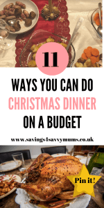 Here is a Christmas dinner list and Christmas dinner starters that can help you have the perfect Christmas dinner on a budget by Laura at Savings 4 Savvy Mums #ChristmasDayDinner #ChristmasDinnerStarters #ChristmasDinnerList #ChristmasDinnerShoppingList #ChristmasDinnerMenu