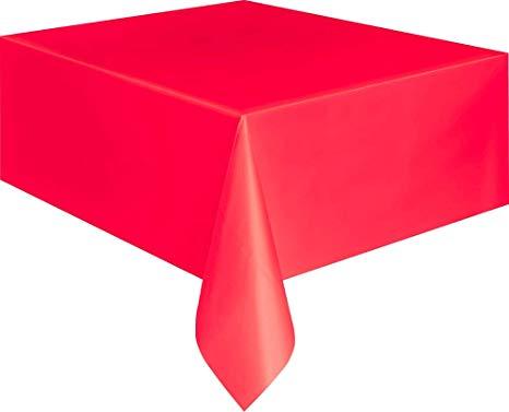 Unique Party 5094 - Red Plastic Tablecloth, 9ft x 4.5ft*