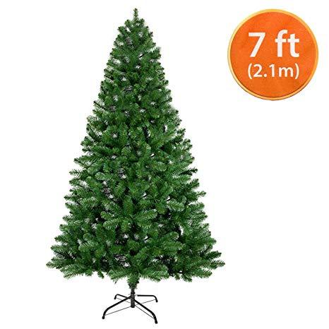 ANSIO Christmas Tree 7ft Artificial Trees Metal Stand 2.1m 100% Virgin Fire Retardant PVC Tips*