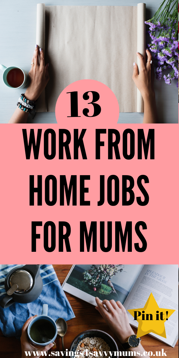 Here are 31 work from home jobs for mums including tips on how to get started and which jobs to break into if you want to go self employed by Laura at Savings 4 Savvy Mums #makingmoney #moneymaking #workfromhome