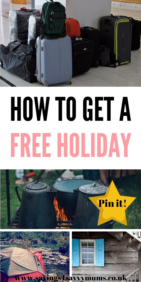 This is how to get a free holiday when you are struggling for money. Loads of family ideas that mean you can still get away and enjoy a break for free by Laura at Savings 4 Savvy Mums #FreeHoliday #ManagingMoney #SavingMoney