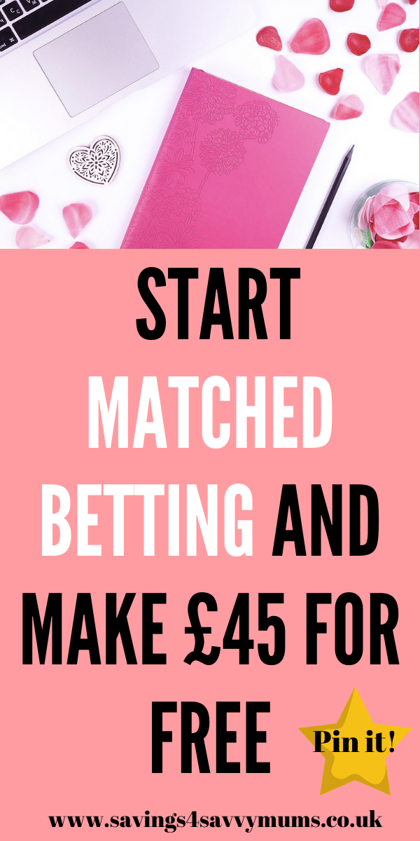 This matched betting guide is for beginners who want to start matched betting from home. This includes a free downloadable matched betting spreadsheet by Laura at Savings 4 Savvy Mums #makemoney #moneymaking #matchedbetting #workfrom home