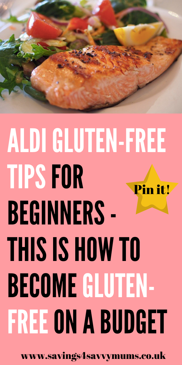 This is how to become gluten-free on a budget as a family. Here are our best Aldi gluten free tips for beginners who want to save on their shopping bill by Laura at Savings 4 Savvy Mums #glutenfree #glutenfreerecipes #glutenfreemeals