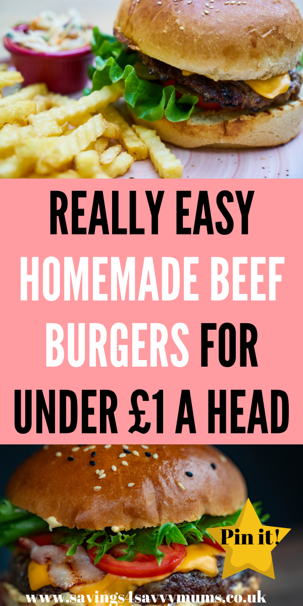 These easy homemade beef burgers are cheap to make and are lovely to eat. You can spice them up and they are Slimming World friendly by Laura at Savings 4 Savvy Mums #Homemadeburgers #EasyRecipes #SlimmingWorld
