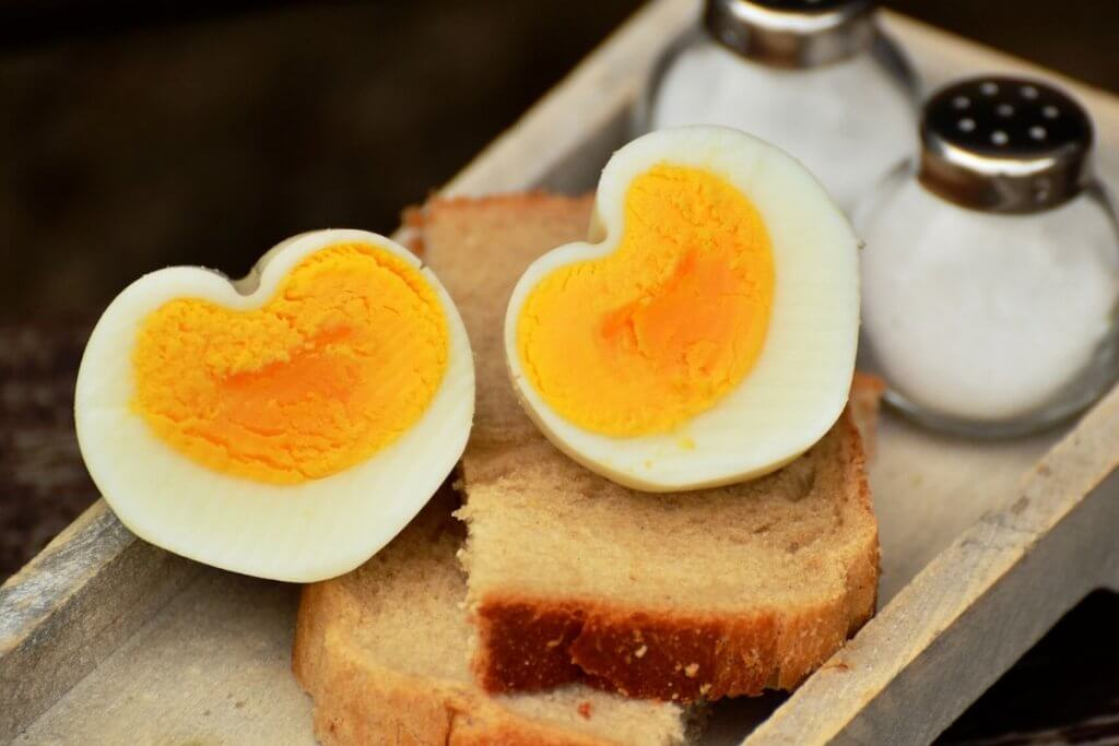 Two boiled eggs with wholemeal toast