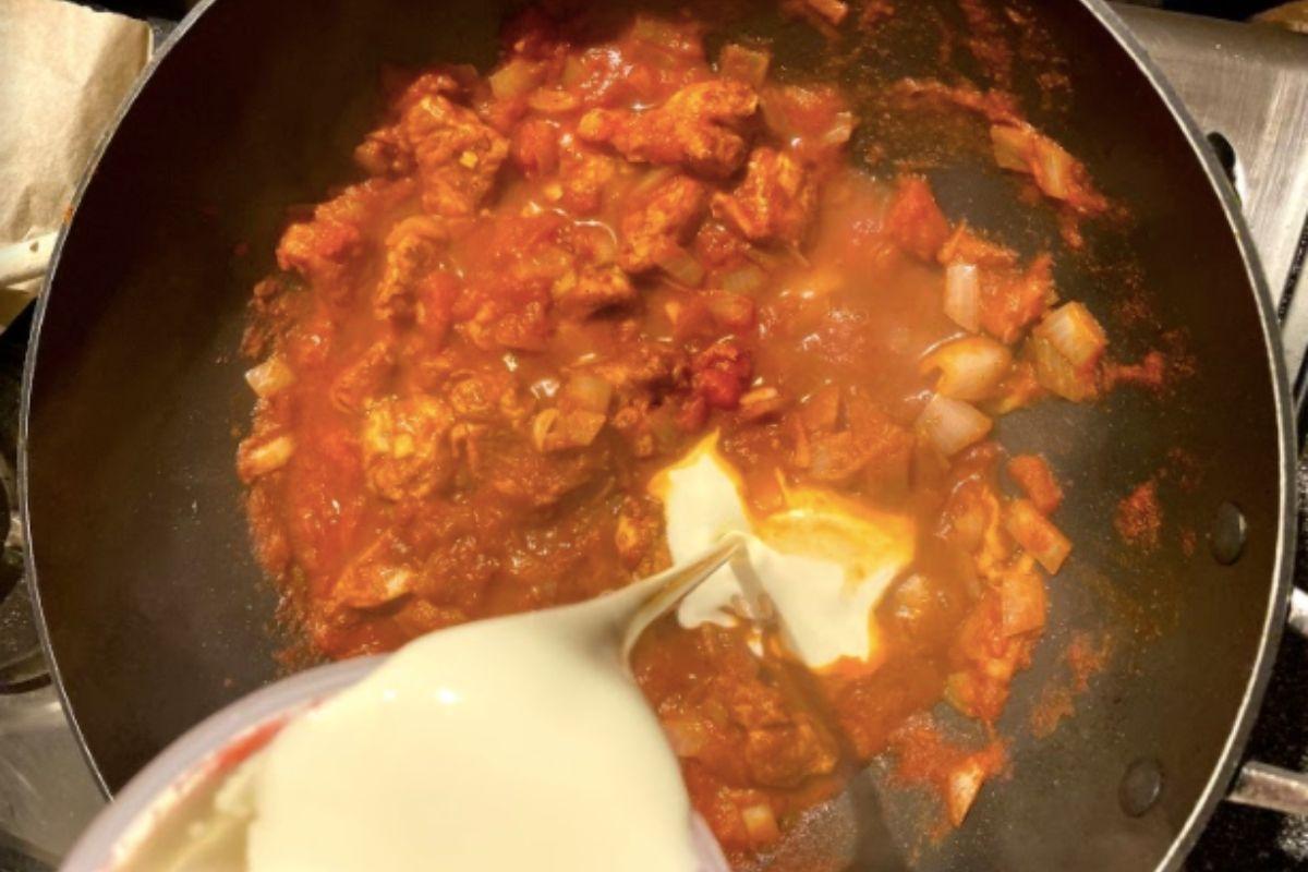 Chicken tikka masala curry with cream
