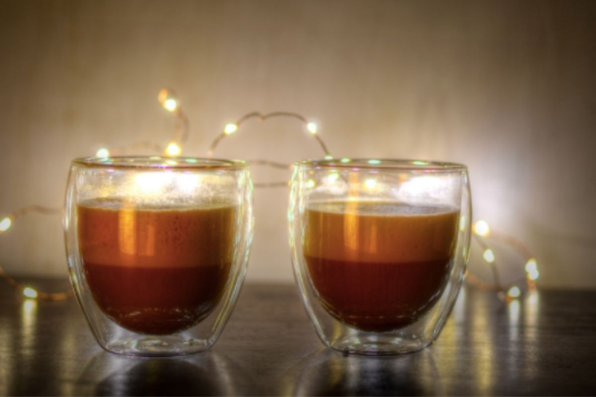 Coffee glasses with lights