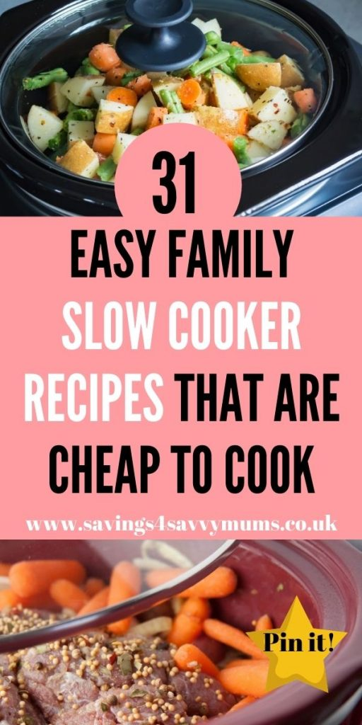 These are the best cheap slow cooker recipes that come in at under £1 a head. They are perfect for the whole family by Laura at Savings 4 Savvy Mums