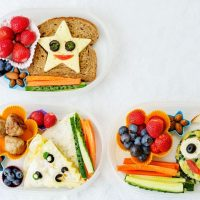 Sandwiches cut up in star shapes