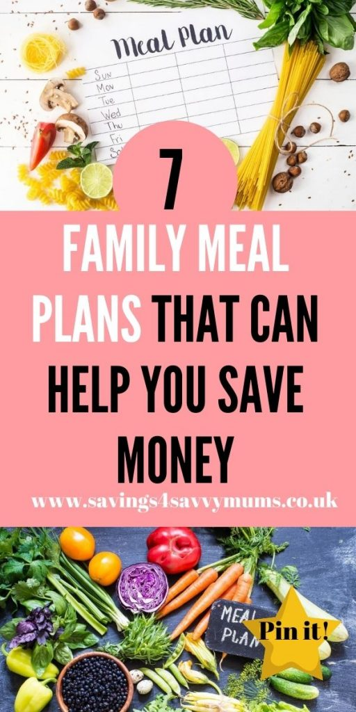 Struggling to fill up your meal plan? The use our 7 family meal plans here that will help you to save money and give you ideas by Laura at Savings 4 Savvy Mums