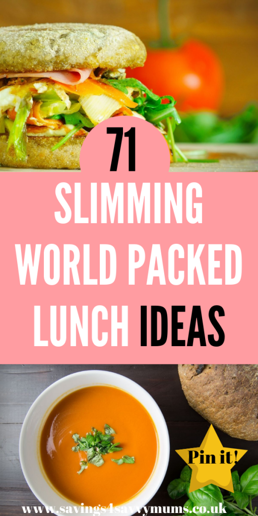 Here are 71 Slimming World packed lunch ideas for the whole family. These are easy to make and budget-friendly by Laura at Savings 4 Savvy Mums #SlimmingWorld #PackedLunches #Lunchideas #BudgetMeals