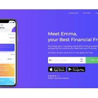 Emma app homepage screen