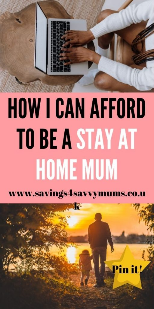 This is how I can afford to be a stay at home mum. This post covers everything from making money at home to budgeting by Laura at Savings 4 Savvy Mums