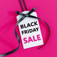 Pink background with Black Friday label