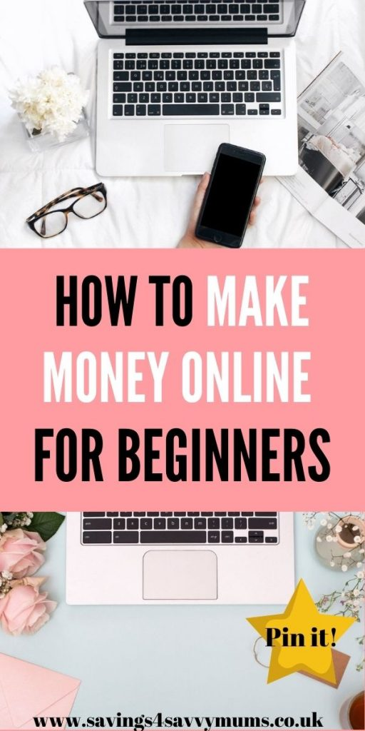 This how to make money online for beginners walkthrough tells you exactly how you can earn money while working from home by Laura at Savings 4 Savvy Mums