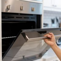 Opening up an oven